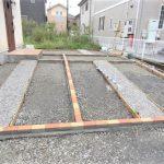 外構工事3日目。駐車場の形は見えた!